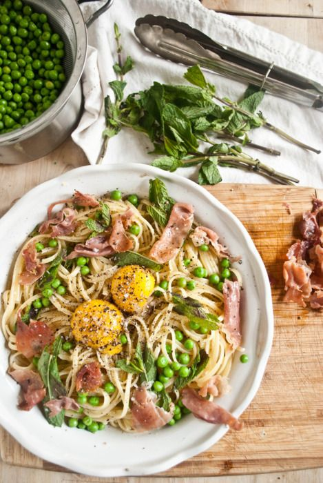 Spaghetti Alla Carbonara With Peas Recipes — Dishmaps