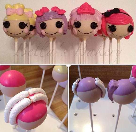 Lalaloopsy cake pops DIY  CAKE POPS  Pinterest