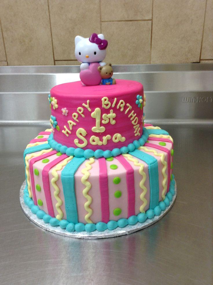Hello Kitty 1st Birthday Cake Hello Kitty 1st 1st Birthday Hello Kitty Cake