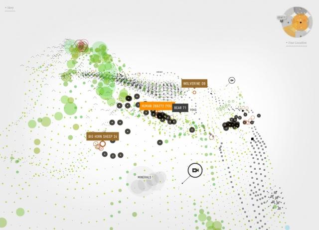 Some sort of processing inspired website map/navigation.