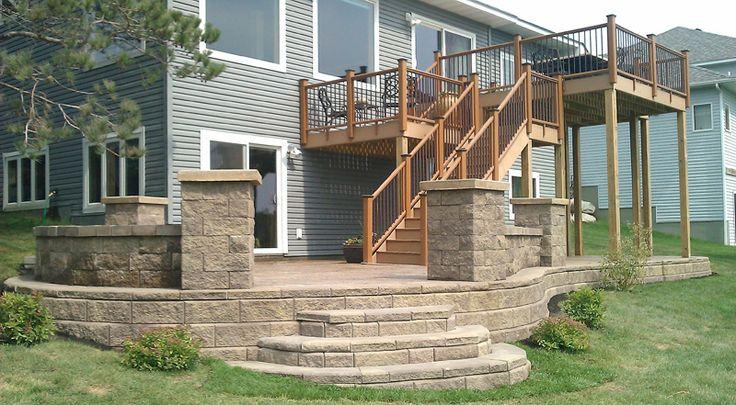Tiered Backyard Decks : Tier deck with patio under  Landscaping  Pinterest
