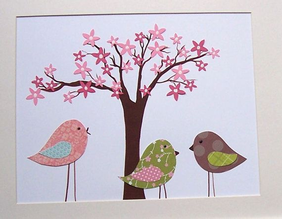The blossoms are blooming children s art decor kids wall art nursery