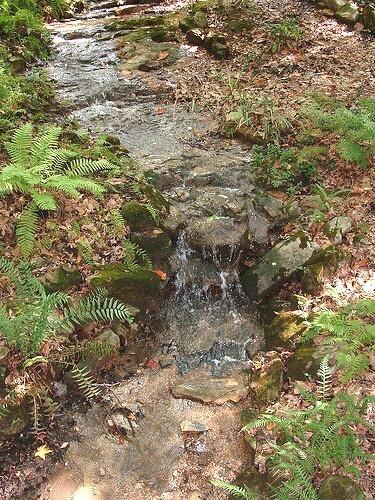 Small waterfall Water garden Pinterest