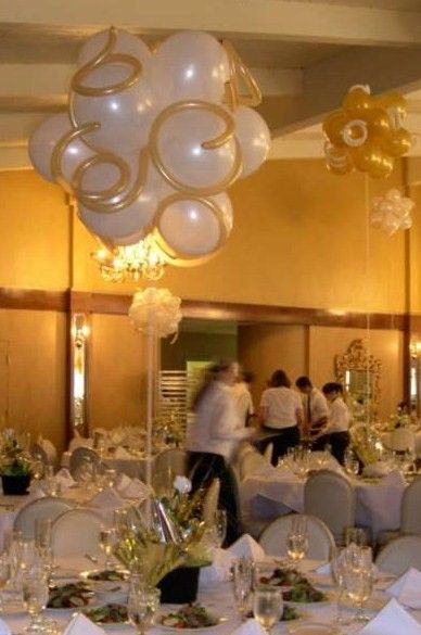 Elegant balloon party balls centerpieces pinterest