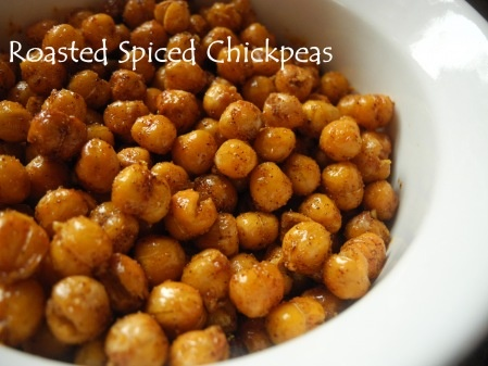 sweet and salty roasted chickpeas recipe | treat me | Pinterest