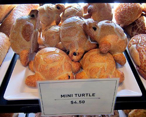 Turtle bread - Boudin bakery.....so cute.