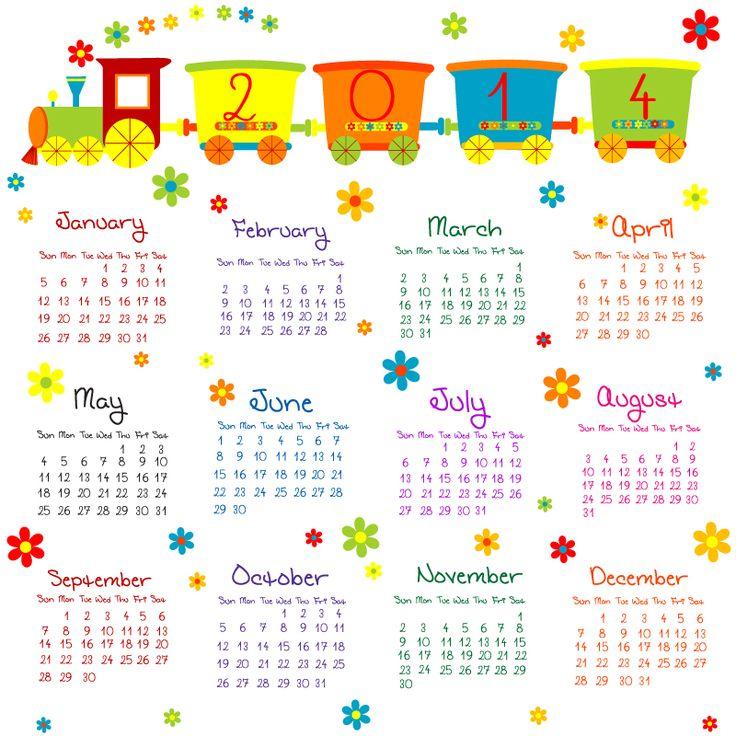 Descargar calendario 2014 para imprimir, ideal para niños - http://calendariogratis.org/descargar-calendario-2014-para-imprimir-ideal-para-ninos/