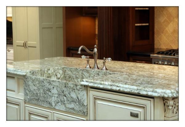 Granite Apron Front Sink : ... granite: Custom granite sink: Mitered and Apron front granite sink