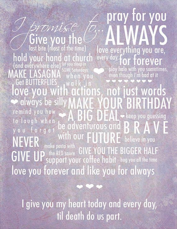 From the heart hand written vows someday maybe pinterest