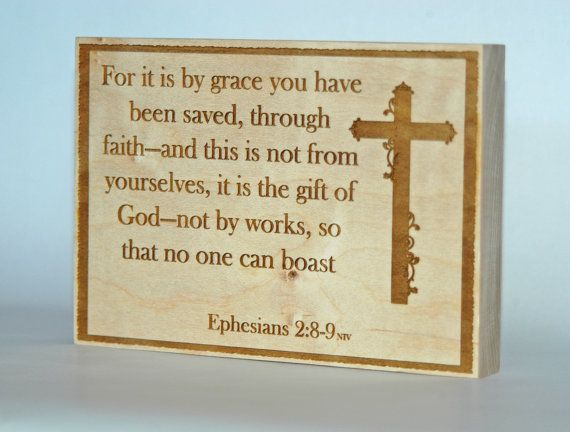Bible Verse Plaque Large Handmade Home Decor By EngraveHart