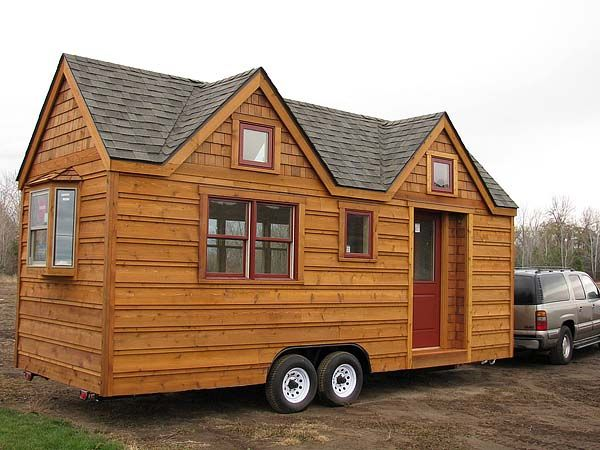 BIG tiny house on wheels tiny house on wheels Pinterest