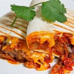 Spicy Pork Bulgogi and Beans Burrito