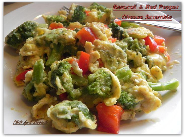 Broccoli & Red Pepper Cheese Scrambler | Recipes | Pinterest