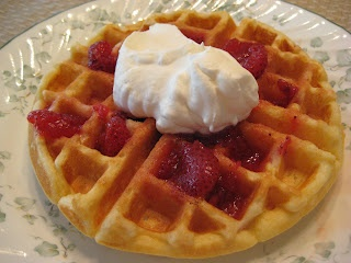 Tender Sour Cream Waffles with Merry Berry Syrup | Real Mom Kitchen