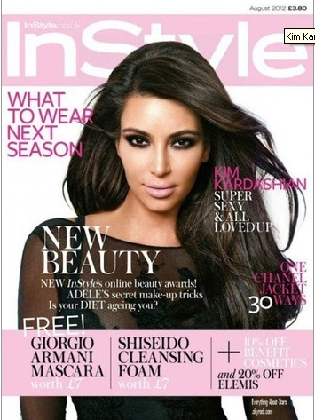 What's hot for August? How about our gal-pal Kim Kardashian on InStyle UK?