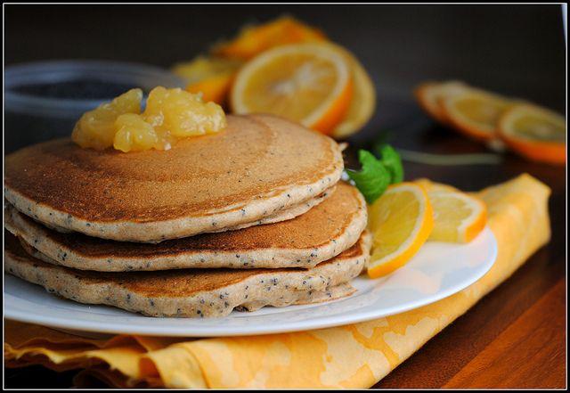 Lemon poppyseed pancakes by PreventionRD | Favourite Foodie Things ...