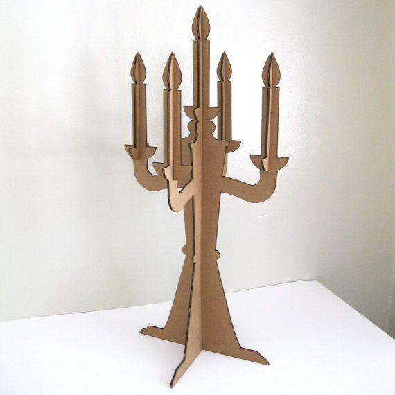 Modern cardboard candelabra centerpiece party decoration