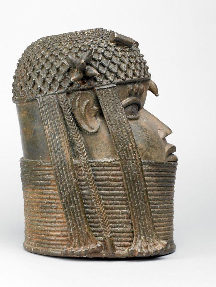 Edo uhunmwun elao oba ancestral memorial head benin nigeria http