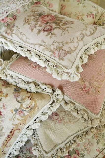 needle point pillows  Shabby Chic/Vintage  Pinterest