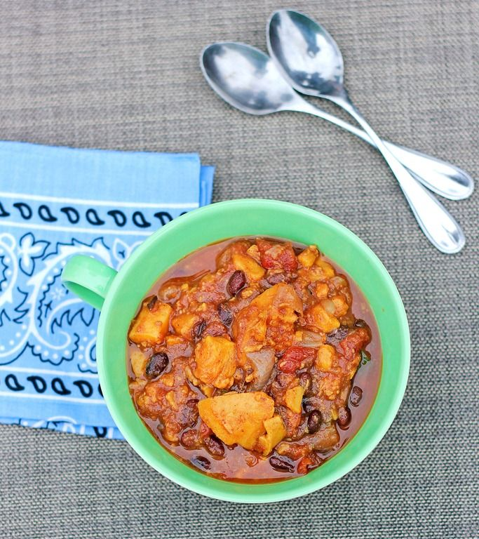 Sweet Potato Chili - this is delicious!  My new favorite Chili!!!