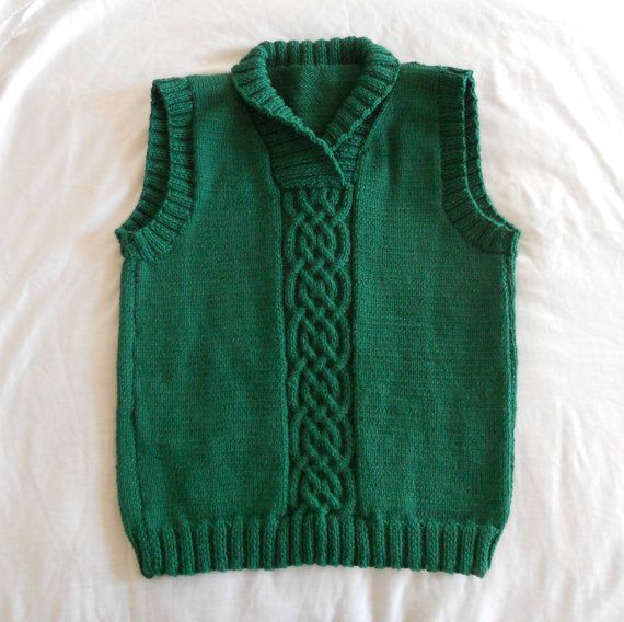Womens Knitting Vest Patterns : Knitting Pattern PDF - Celtic Braid Sweater Vest for Women