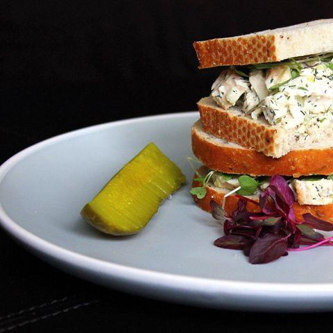 best dill chicken salad sandwich 2 | food | Pinterest