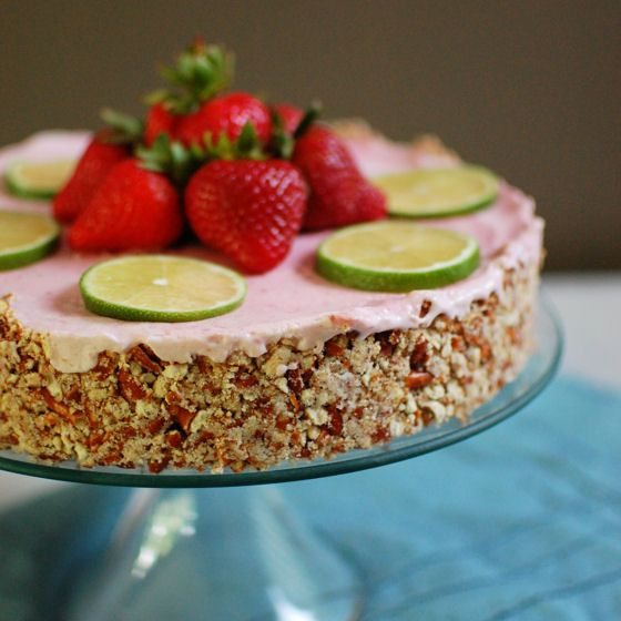 This frozen Strawberry Margarita Pie has all the flavors of the ...