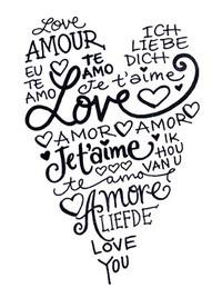 amour... À imprimer pour une carte pour un mariage ou la saint Valentin.