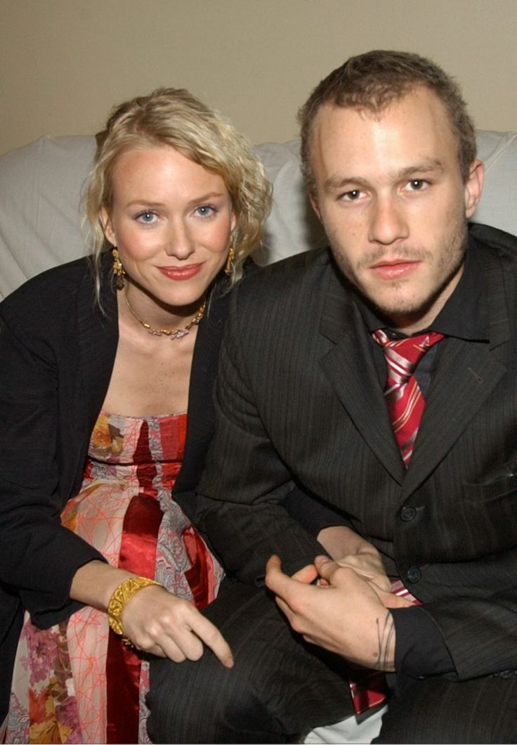 Naomi Watts with Heath Ledger   Lovely Couples   Pinterest