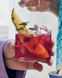 Hibiscus,ginger beer drink