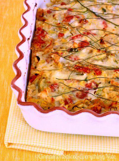 Crustless Zucchini, Corn and Tomato Quiche with Feta by Cinnamon Spice ...