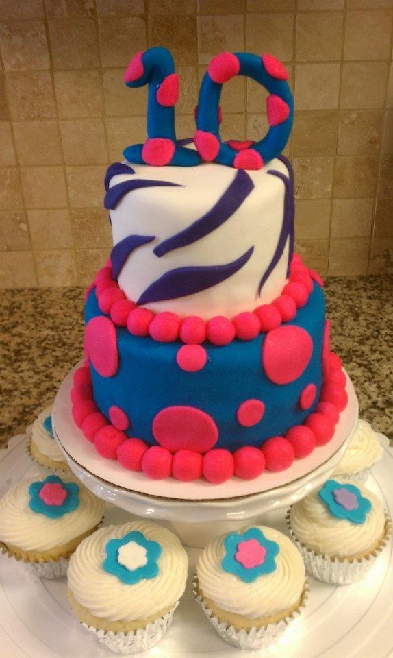 Birthday Cake Recipes Decorating Ideas : 10th Birthday Cake Cake decorating Pinterest