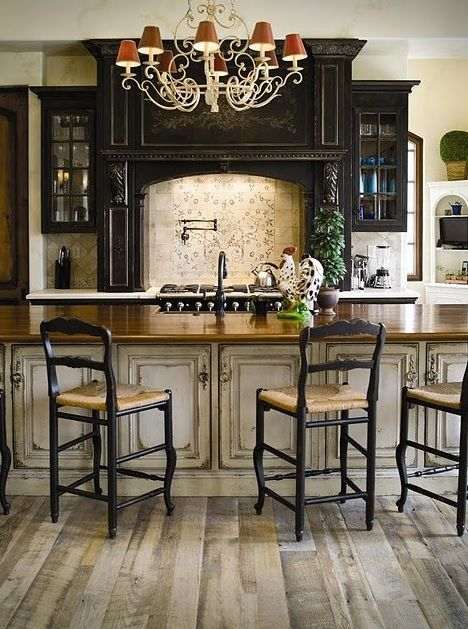 distressed kitchen cabinets country primitive rooms pinterest