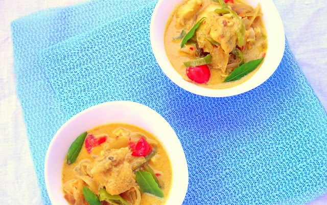 WOW! Coconut Fish Curry Pressure Cooker Recipe - full of ingredient ...