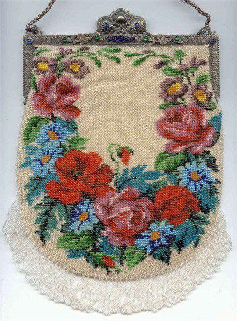 Bead Crochet bag. Amazing Beaded Bags Pinterest