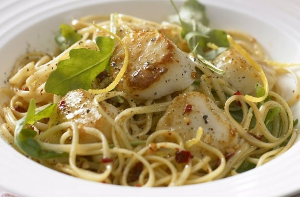 Pasta with scallops and rocket | Marvellous Meat, Poultry and Sea Foo ...