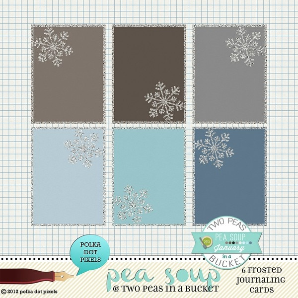 pea soup january 13 - frosted journaling cards by Polka Dot Pixels ...