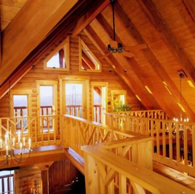 Log Home Loft With Cathedral Ceilings Dream Home Pinterest