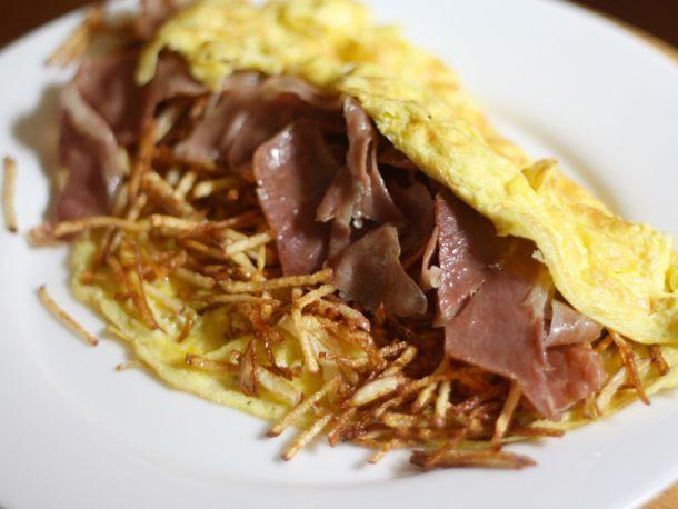... omelet delicate ham and cheddar omelet bauernomlett farmer s omelet