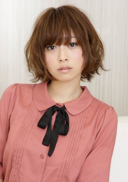 Cute Japanese Curly Bob Hairstyle Kawaii Cool Hairstyles