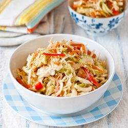Easy and Vegetarian Asian Cabbage Salad | recipes | Pinterest