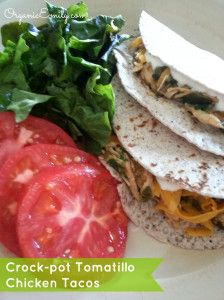 Crockpot Tomatillo Chicken Tacos (I'll make my own tomatillo salsa ...