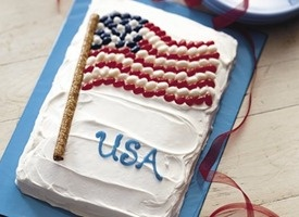 Candy-Topped Flag Cake | Food & Drink | Pinterest