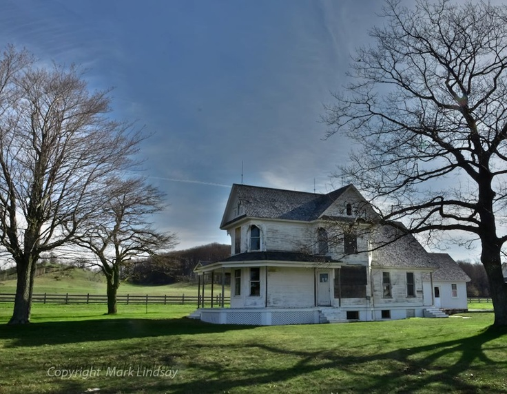 """Oswegatchi"" Built in the late 1880's, D H Day called his farm ""Oswegatchi"" after the New York community his father had lived. This farm house and it's massive barns are located just south of Glen Haven.- Mark Lindsay Photo"