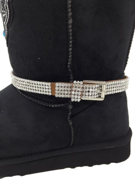 rhinestone cowgirl ugg style boots