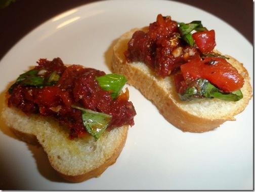 Double Tomato Bruschetta | All the food | Pinterest