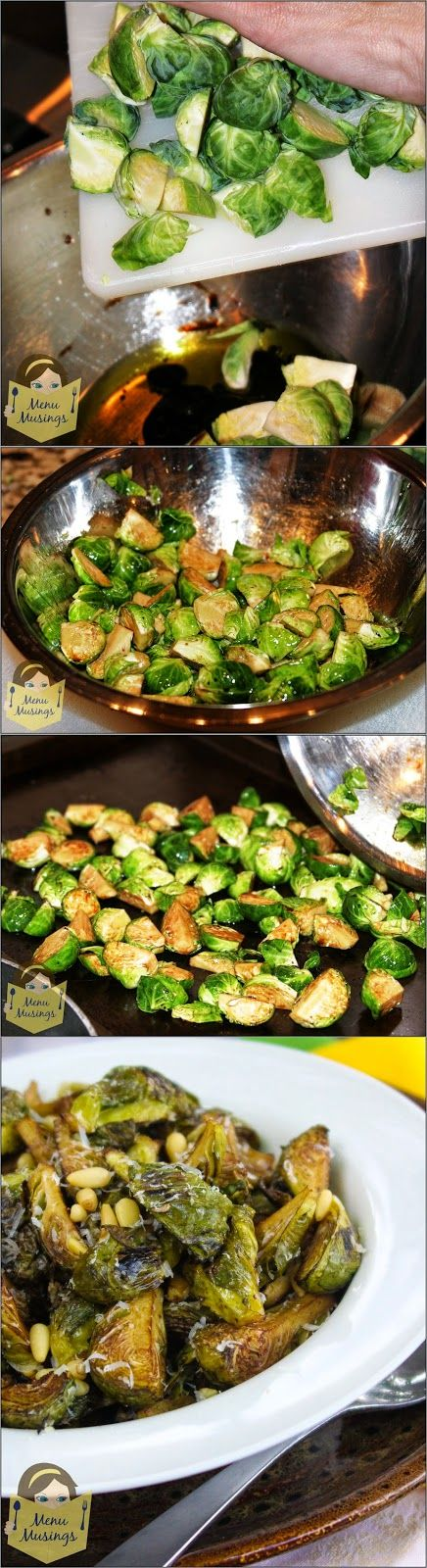 Balsamic Roasted Brussels Sprouts with Pine Nuts and Parmigiano ...