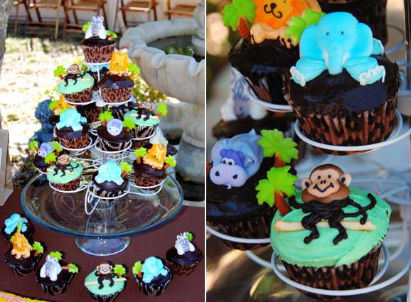 baby shower cupcake ideas | Jungle Themed Baby Shower - The Sweetest ...
