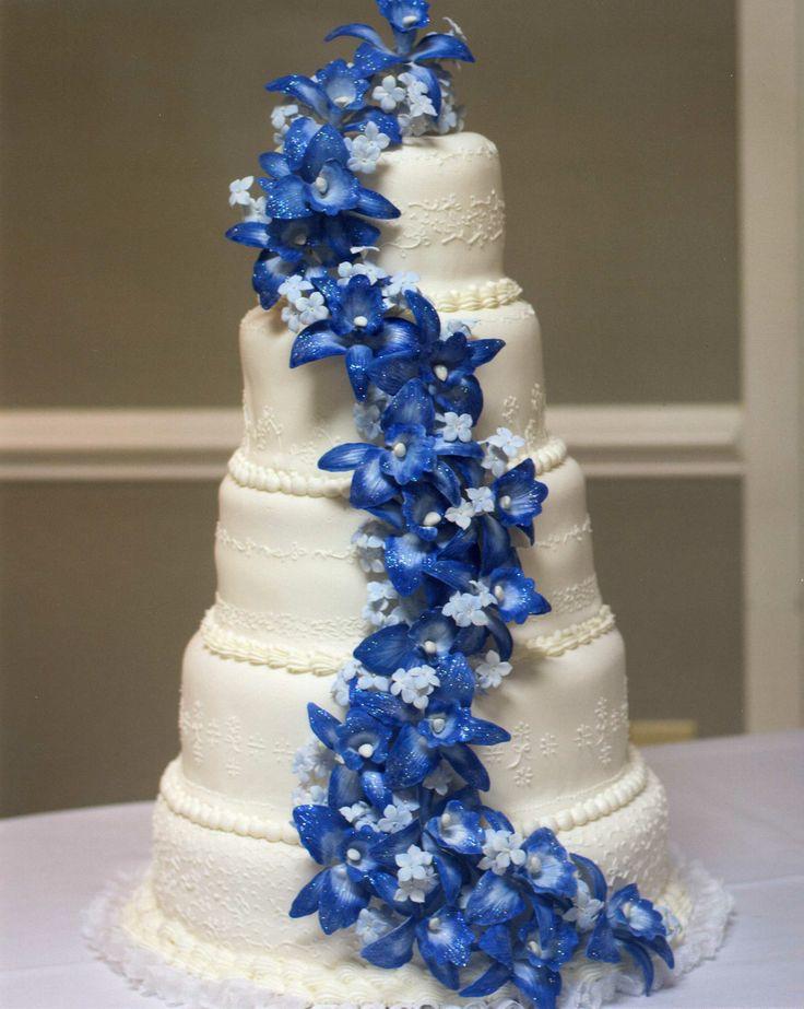 blue orchid wedding cake wedding cakes pinterest
