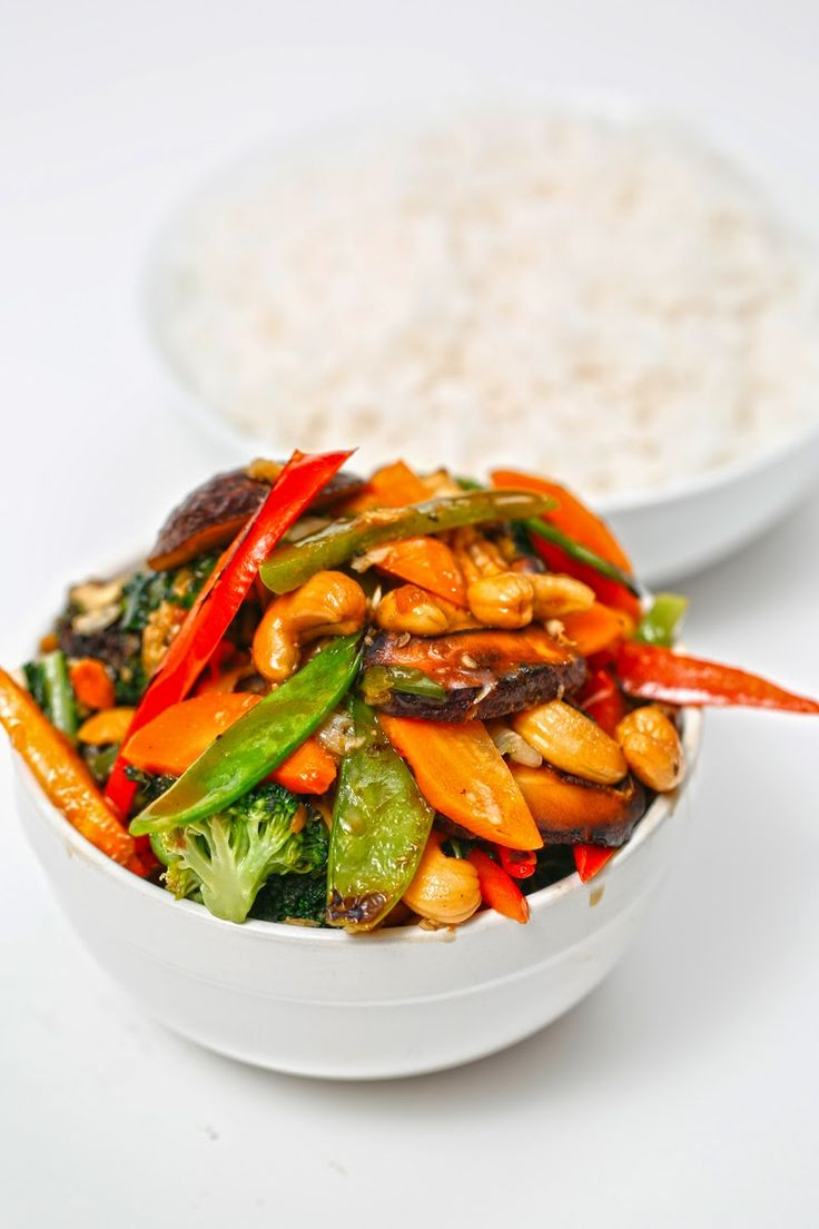 The Chubby Vegetarian: Ginger and Cashew Stir Fry